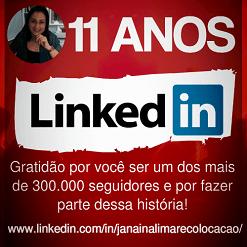 Comemorando 11 anos de LinkedIn