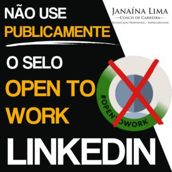 Selo OpenToWork no Linkedin