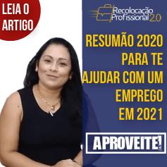 Resumão de 2020 para quem busca um novo emprego em 2021.